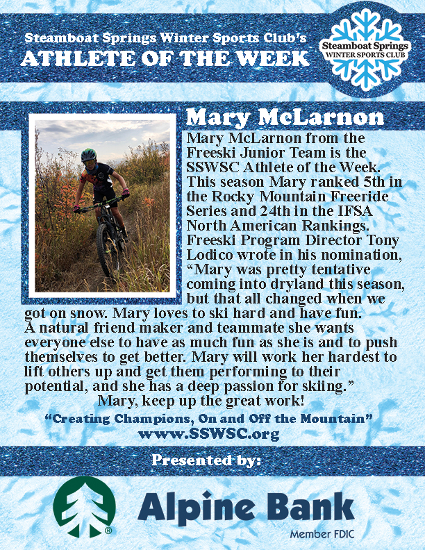 Athlete of the Week, Mary McLarnon