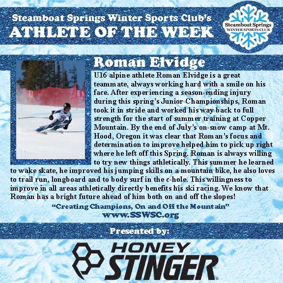 Athlete of the Week, Roman Elvidge