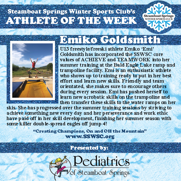 Athlete of the Week, Emiko Goldsmith