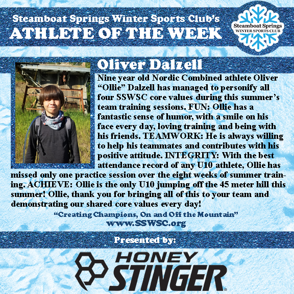Athlete of the Week, Oliver Dalzell