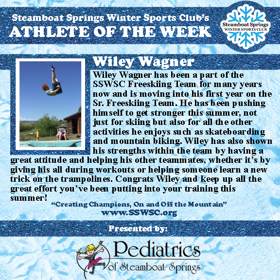 Athlete of the Week, Wiley Wagner