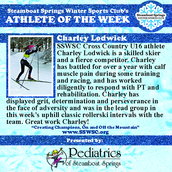 Athlete of the Week, Charley Lodwick