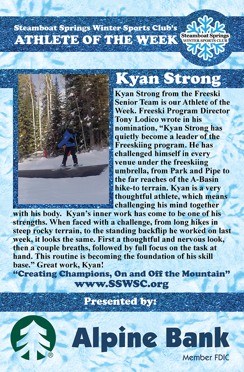 Athlete of the Week, Kyan Strong