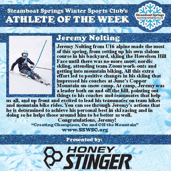 Athlete of the Week, Jeremy Nolting
