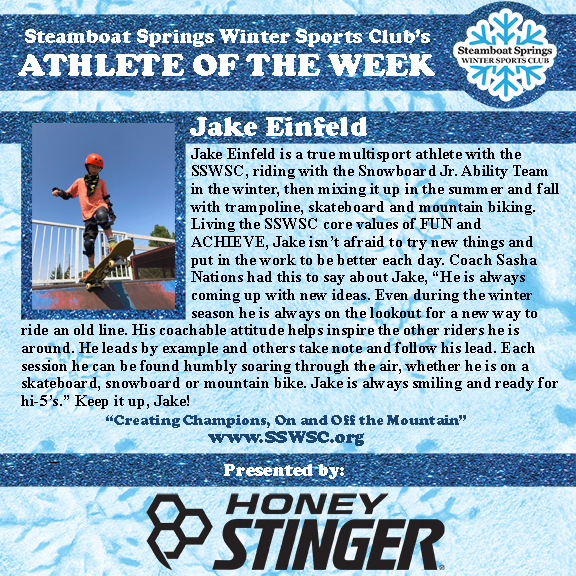 Athlete of the Week, Jake Einfeld