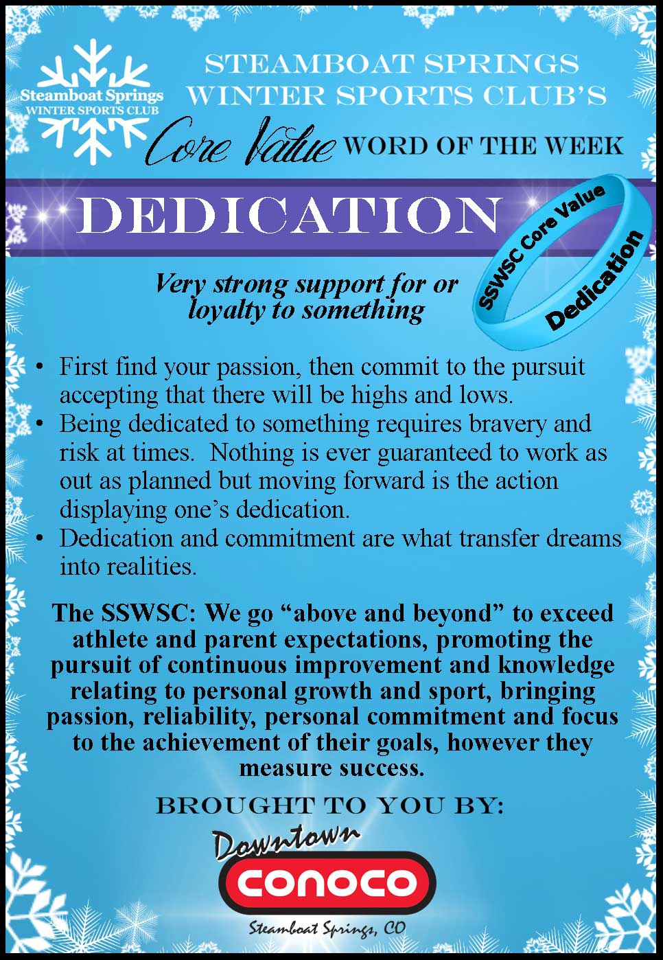Word of the Week - Dedication