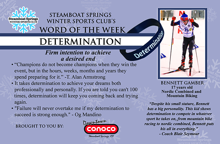 Word of the Week, Determination