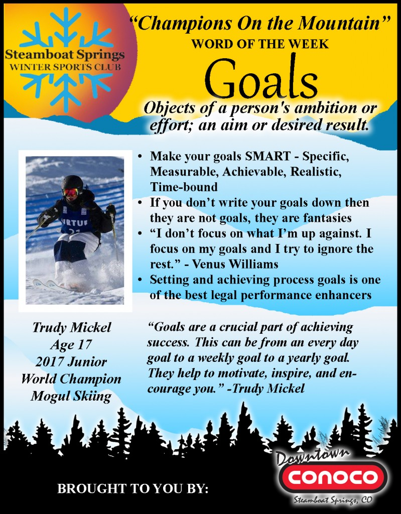 Word of the Week- Goals