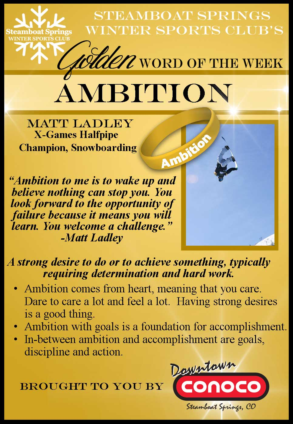 Word of the Week - Ambition