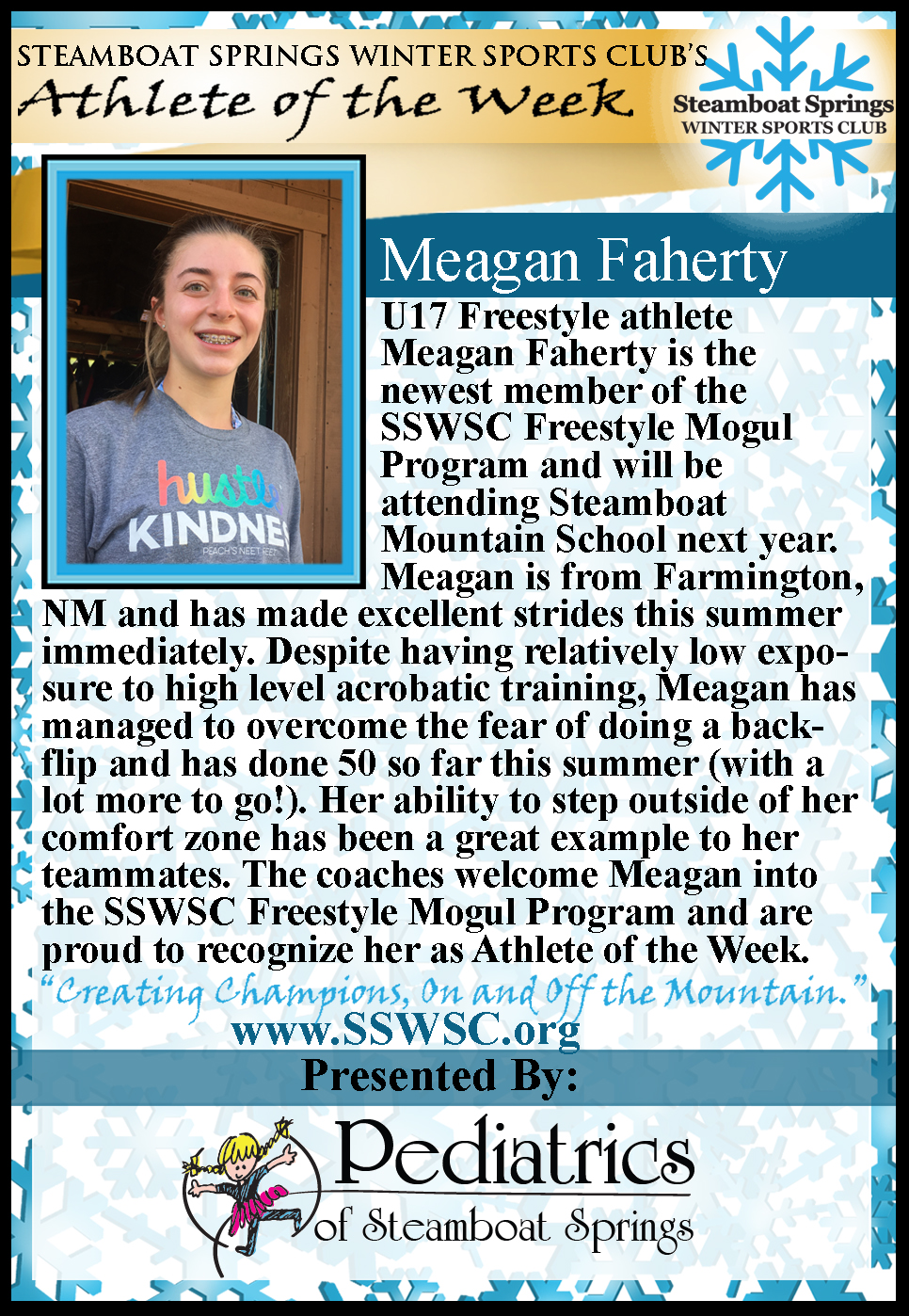Athlete of the Week, Meagan Faherty