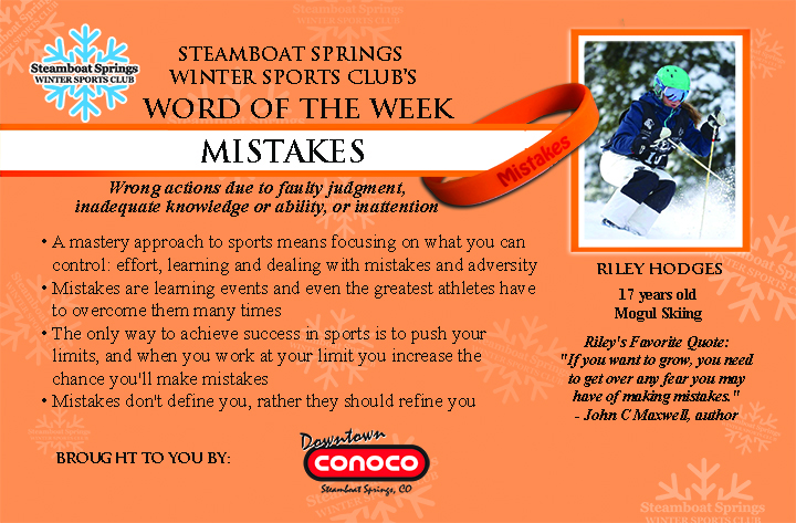 Word of the Week, Mistakes