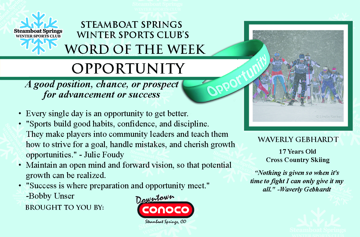 Word of the Week, Opportunity