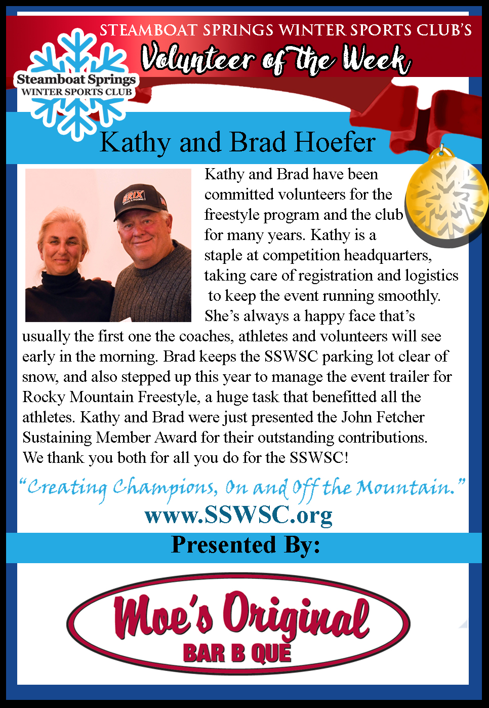 Volunteer of the Week: Kathy and Brad Hoefer