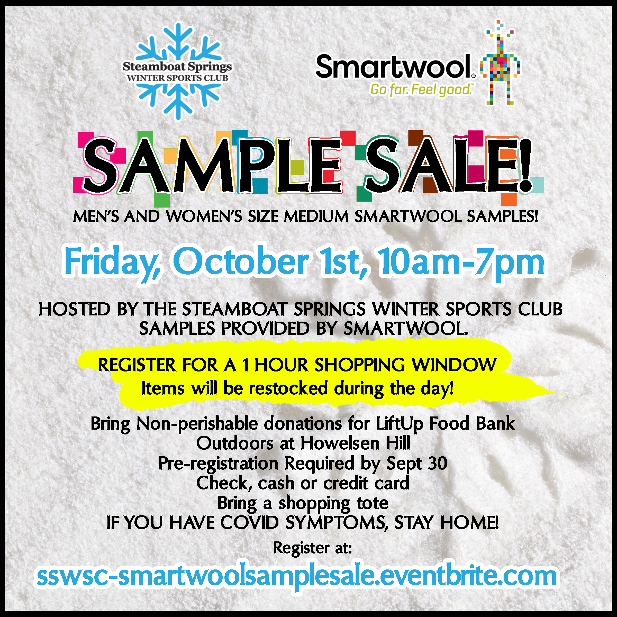 Smartwool Sample Sale hosted by SSWSC