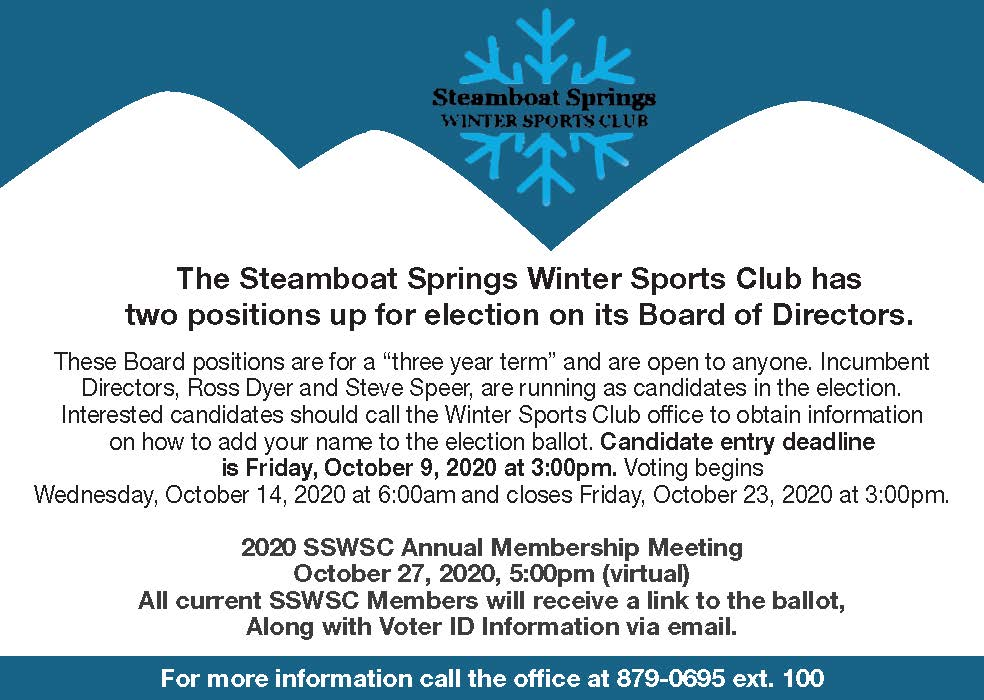 Two positions up for election: Board of Directors